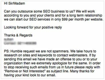 SEO Email Spam