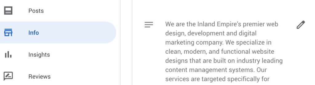 Google My Business Update Company Description - Coronavirus